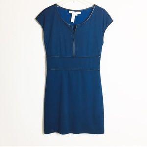 Max Studio Dress Blue Black Appliqué
